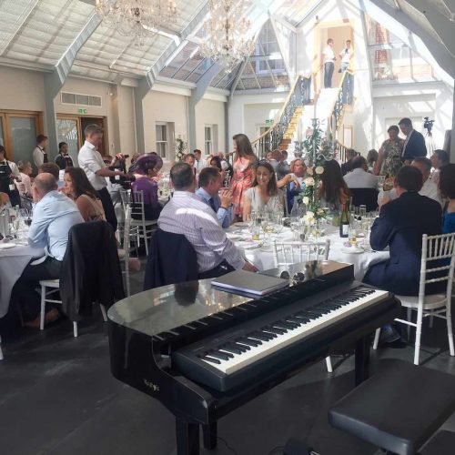 portable-baby-grand-piano-wedding-breakfast-botleys-mansion