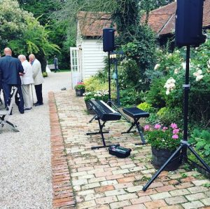 PA system at wedding party