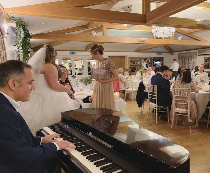 Wedding Breakfast piano playing in Essex