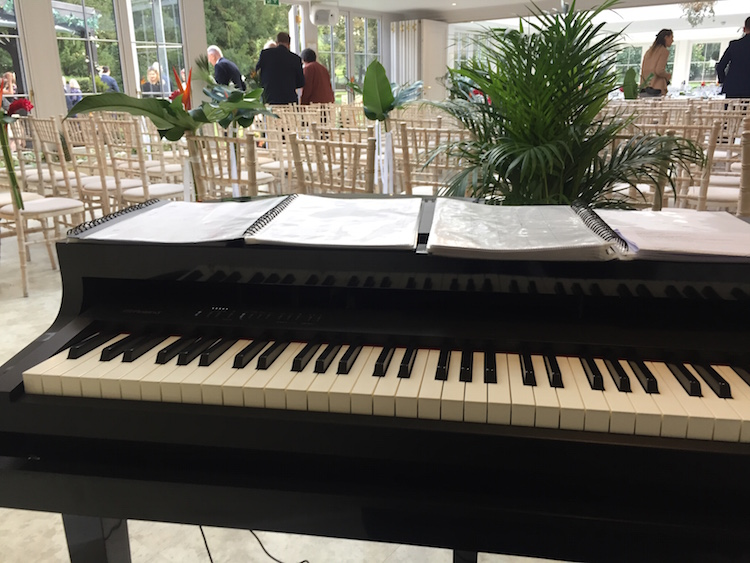 Piano for wedding at Hayne House, Kent